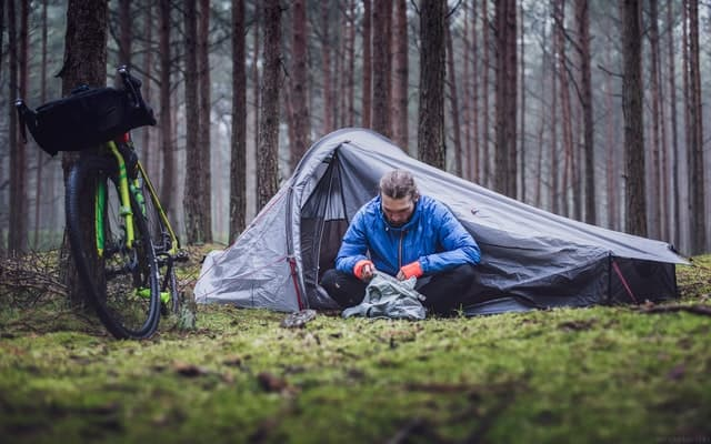 Bicycle camping - types of camping