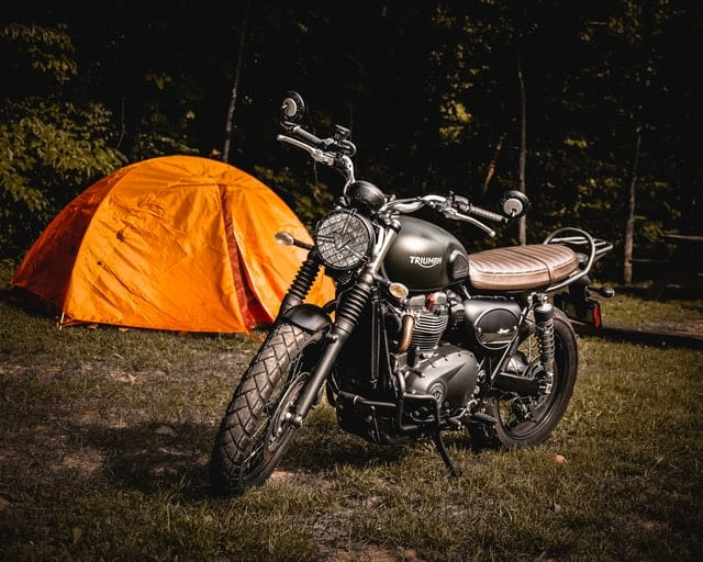 Motorcycle camping - types of camping